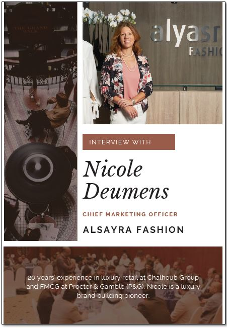 Exclusive interview with Nicole Deumens, Chief Marketing Officer, Alsayra Fashion