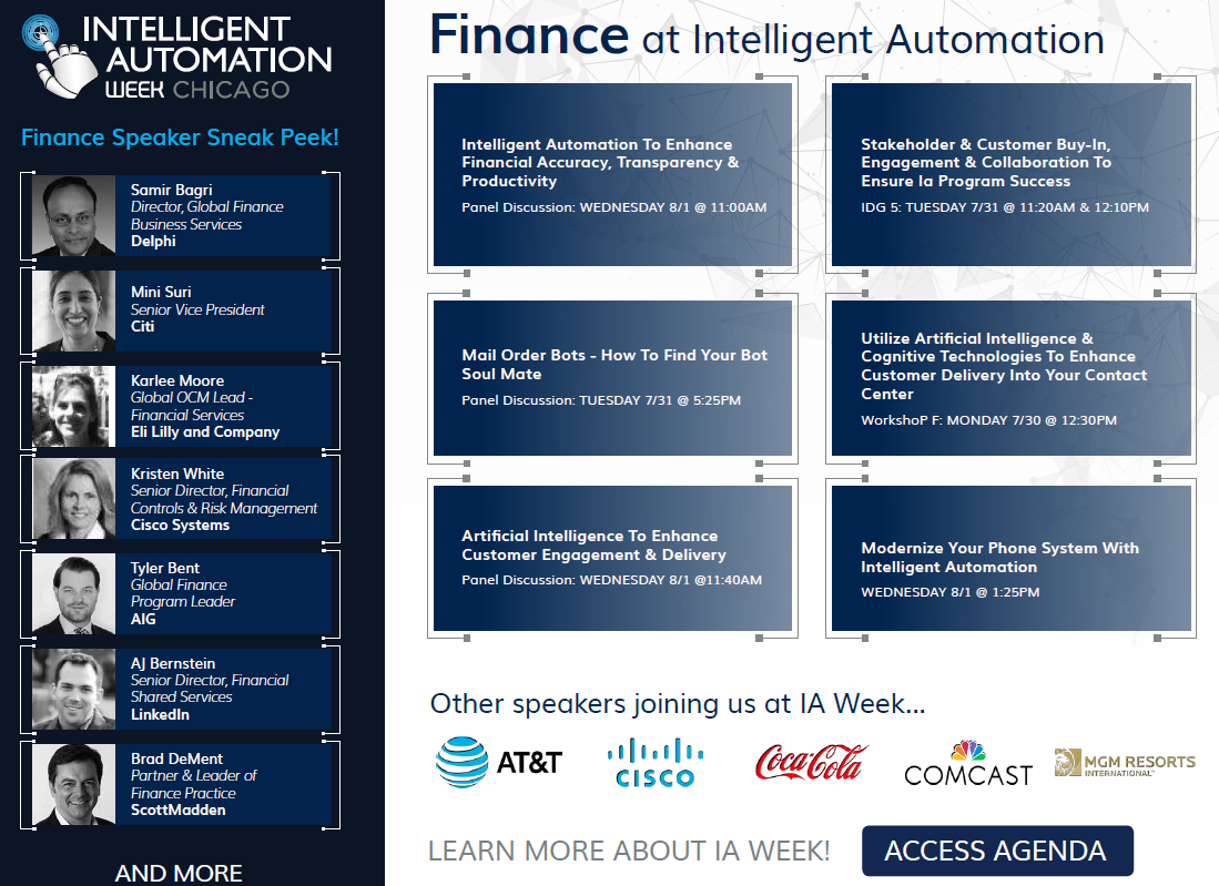 Finance at Intelligent Automation Week