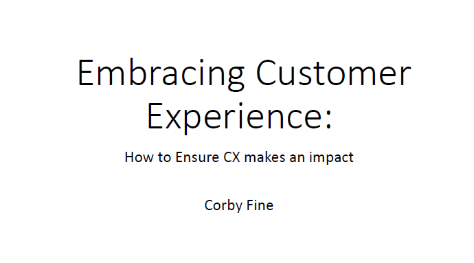 CASE KEYNOTE: Embracing Customer Experience - How to Ensure CX Makes an Impact