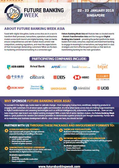 Future Banking Week Sponsorship Information