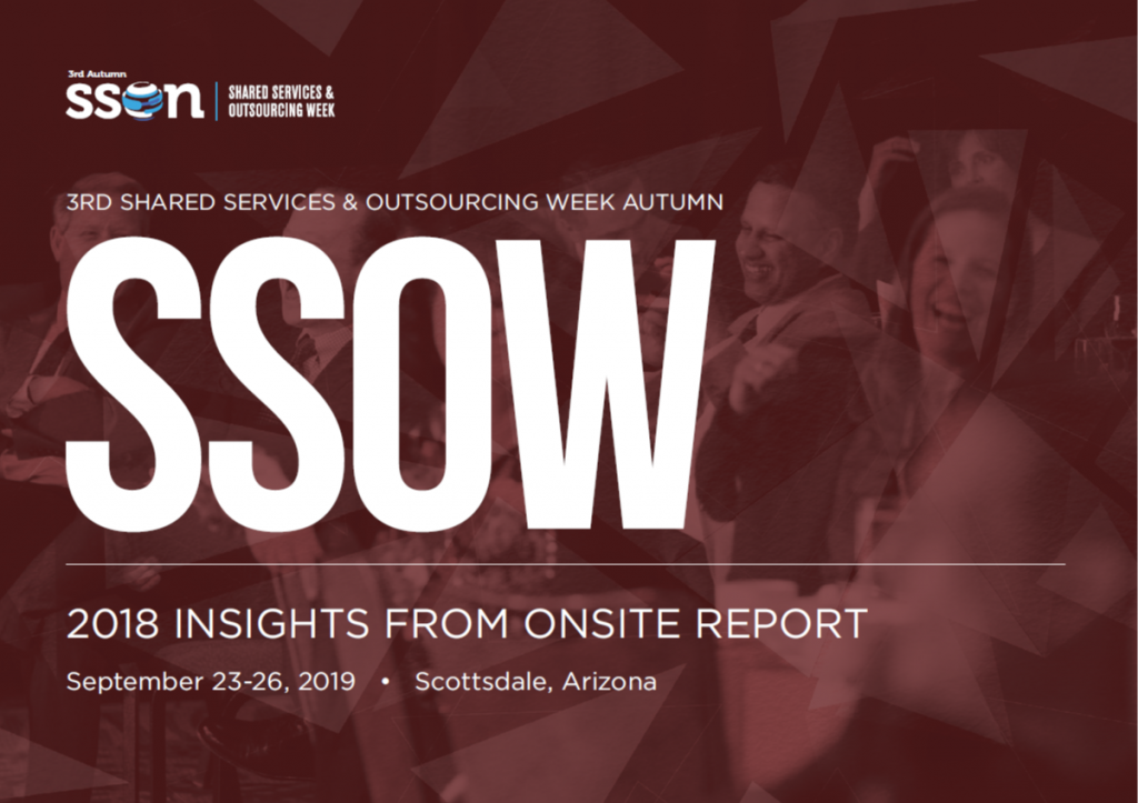 Shared Services & Outsourcing Week Autumn: 2018 Insights from Onsite for Sponsorship