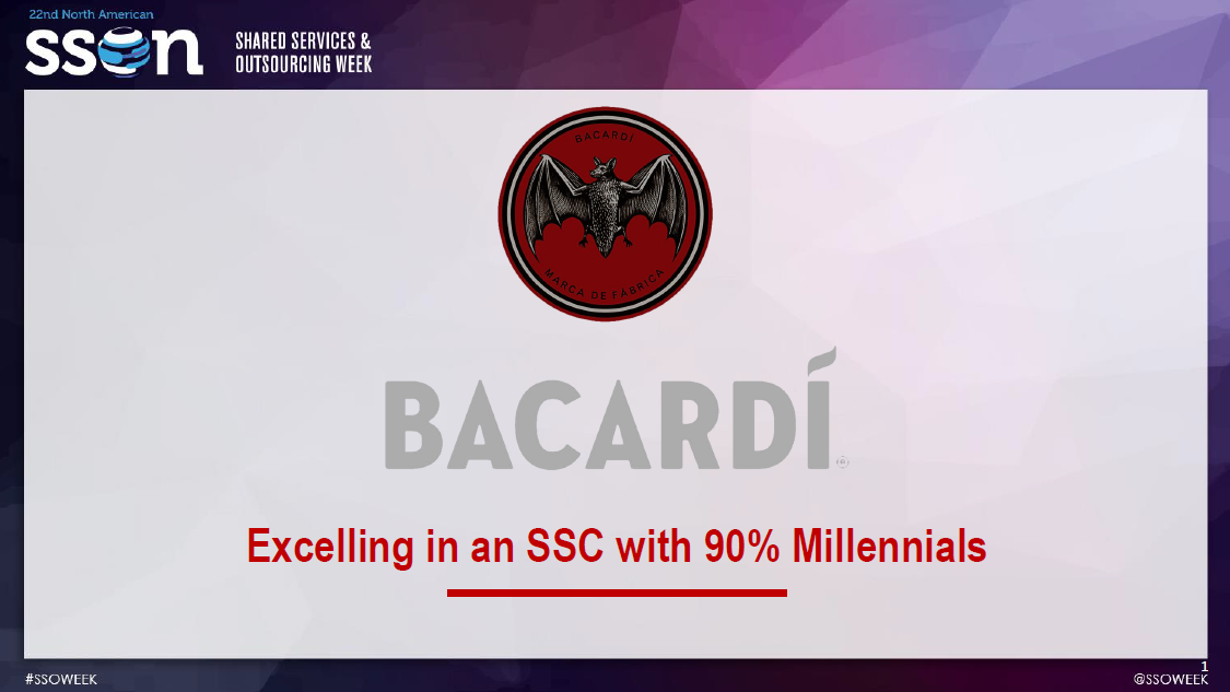Excelling in an SSC with 90% Millennials