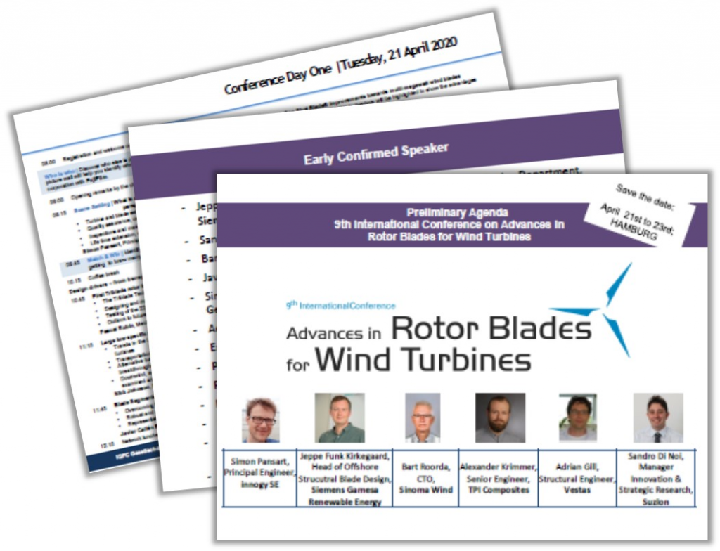 Download the Agenda for the Advances in Rotor Blades for Wind Turbines Conference