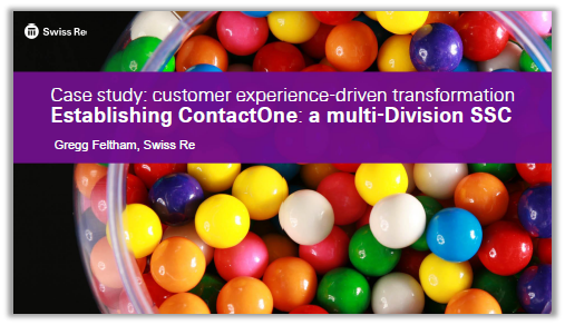 Case study on customer experience-driven transformation and multi-Division SSC