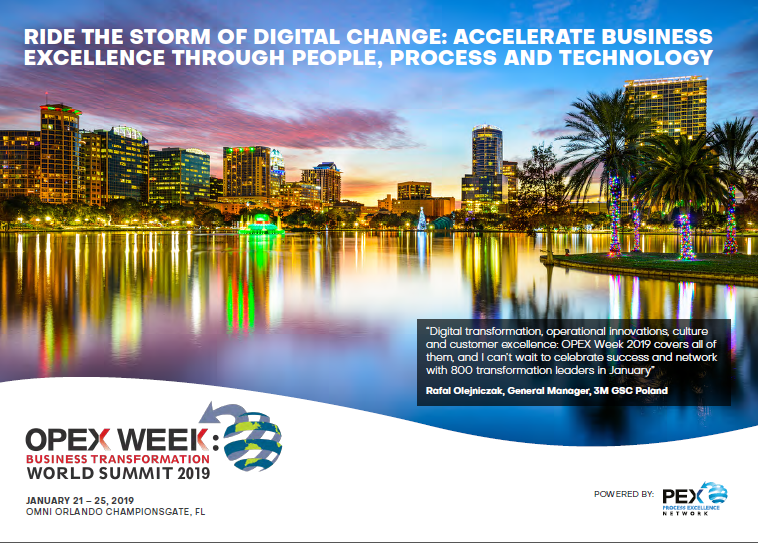 Package Guide | OPEX Week Business Transformation World Summit 2019