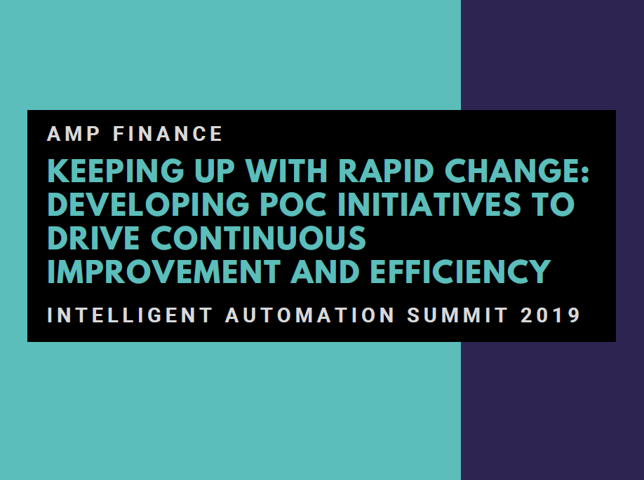 Keeping Up With Rapid Change: Developing PoC Initiatives to Drive Continuous Improvement and Efficiency