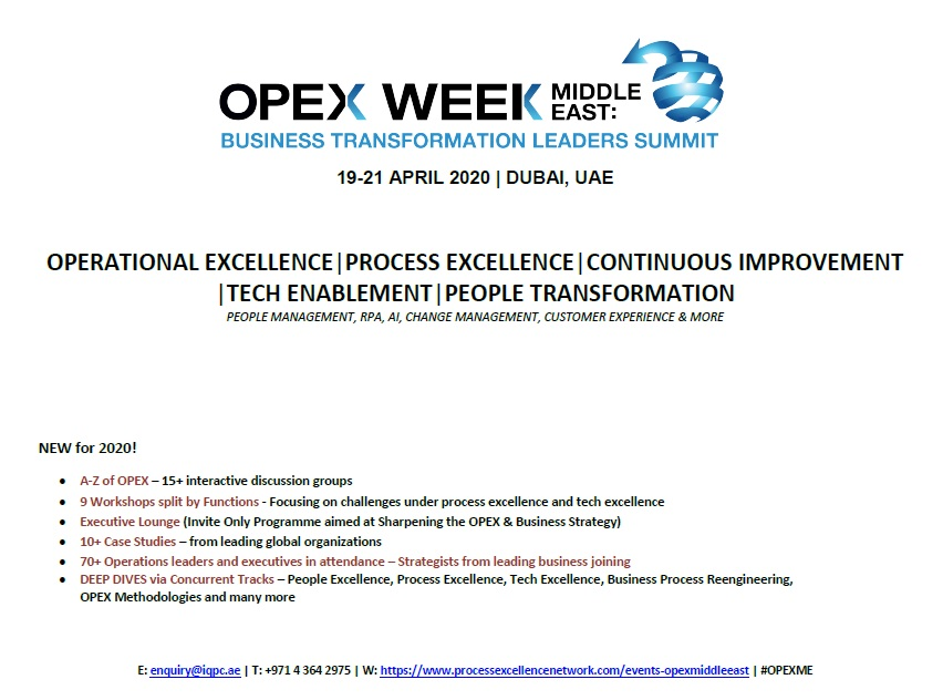 View Event Guide - OPEX Week Middle East: Business Transformation Leaders Summit