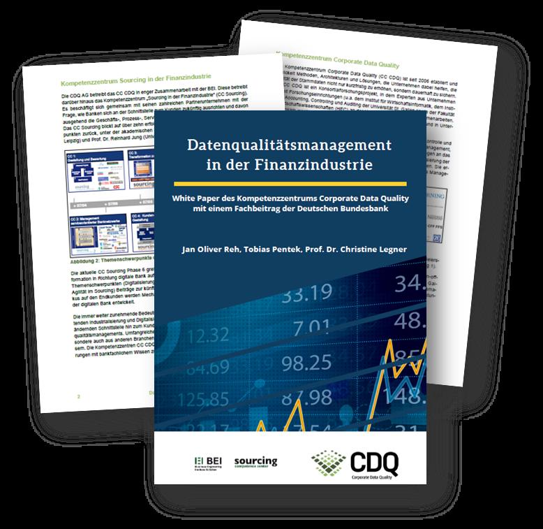 Whitepaper des Kompetenzenzentrums Corporate Data Quality mit einem Fachbeitrag der Deutschen Bundesbank