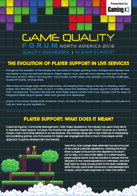 The Evolution of Player Support in Live Services