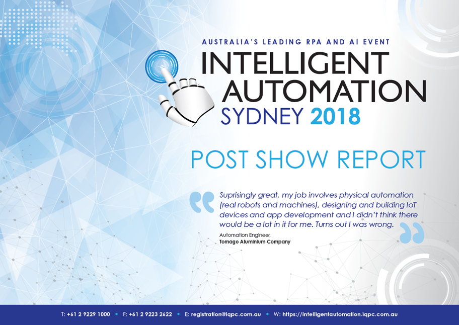 2018 Intelligent Automation Post Show Report