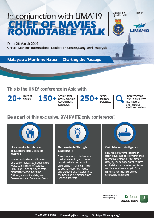 View the Conference Outline - LIMA `19 Chief of Navies Roundtable Talk