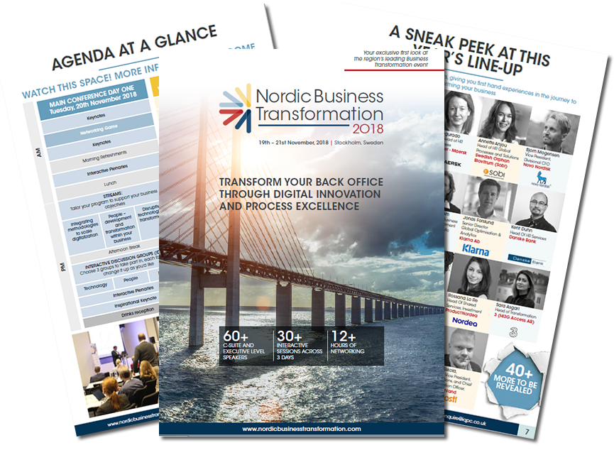 Download the Nordic Business Transformation 2018 Preliminary Agenda!