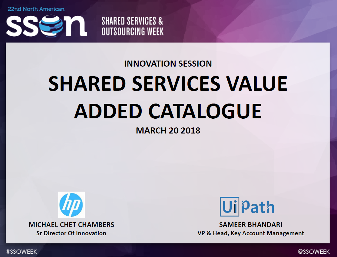 Shared Services Value Added Catalogue