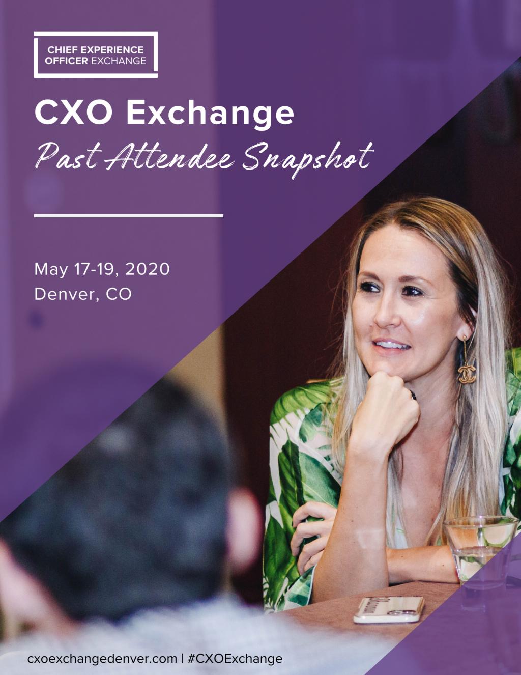 CXO Exchange Denver Past Attendee Snapshot