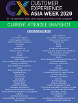 CX Asia Week 2020- Current Attendee List
