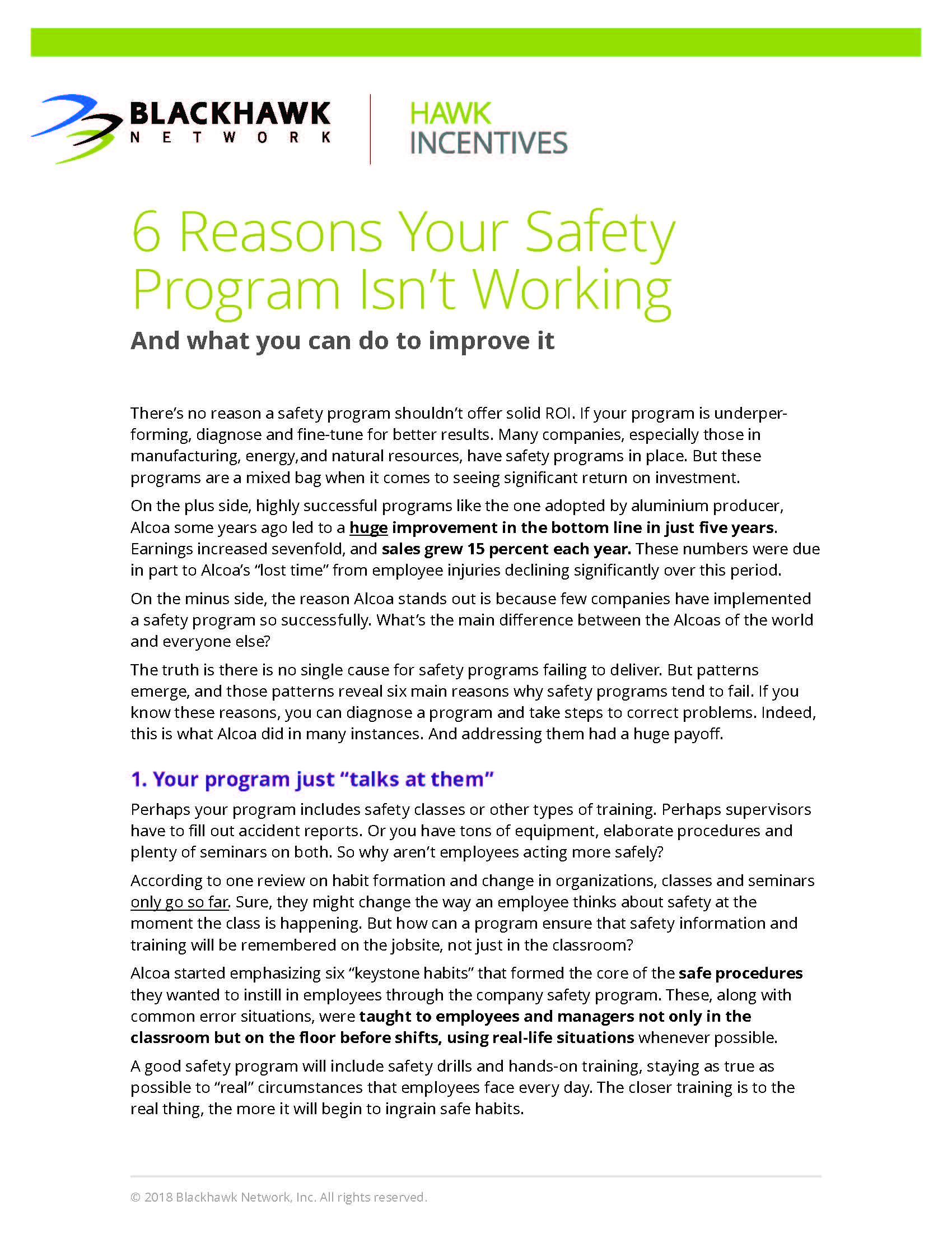 6 Reasons Your Safety Program Isn't Working