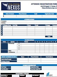 Special Operations NEXUS Registration Form