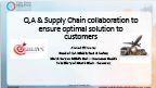 Ensuring Quality through Supply Chain and QA Collaboration
