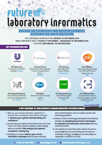Download the Agenda: Future Laboratory Informatics 2019: