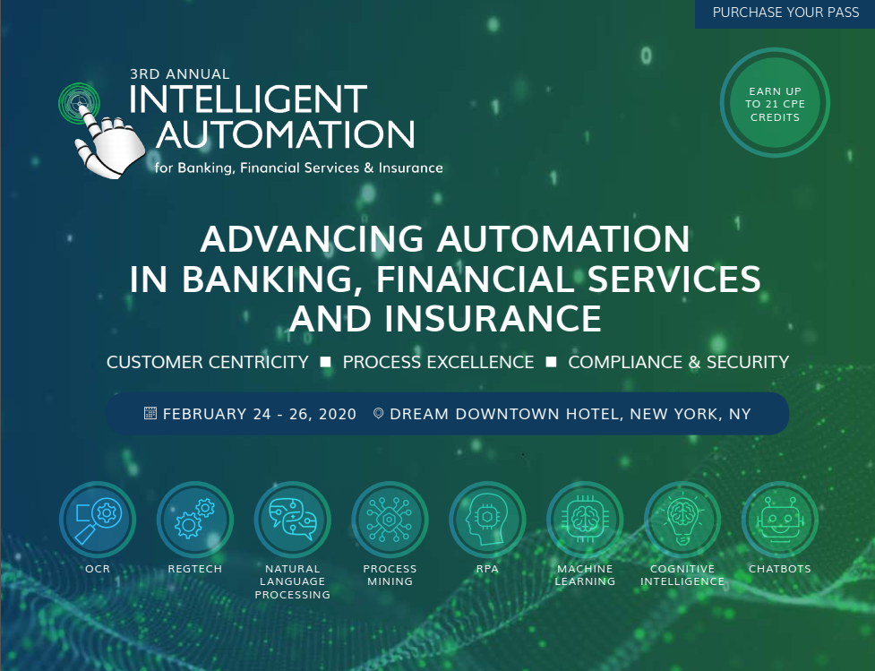 Onsite Agenda: Intelligent Automation for Banking, Financial Services & Insurance