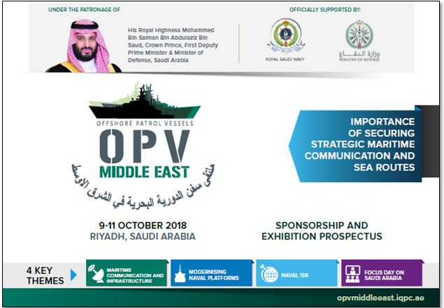 Sponsorship Prospectus - 7th Annual Offshore Patrol Vessels Middle East 2018