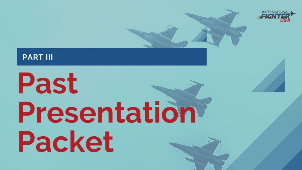 International Fighter USA Past Presentation Packet #3