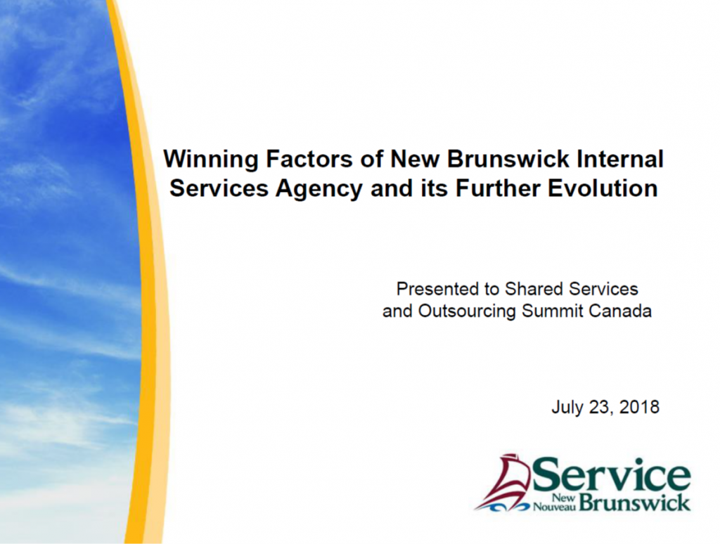 Case Study: Winning Factors of New Brunswick Internal Services Agency