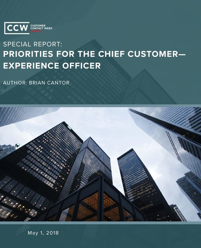 Special Report: Priorities for the Chief Experience Officer