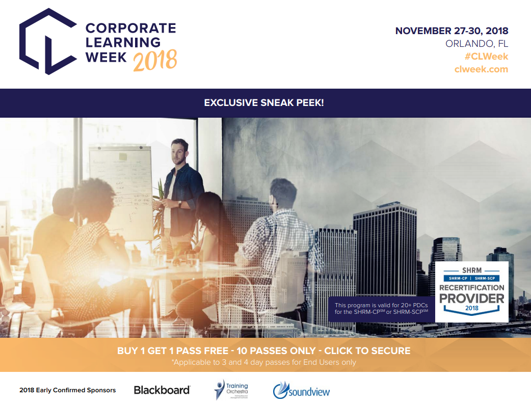 Corporate Learning Week - See the Agenda!