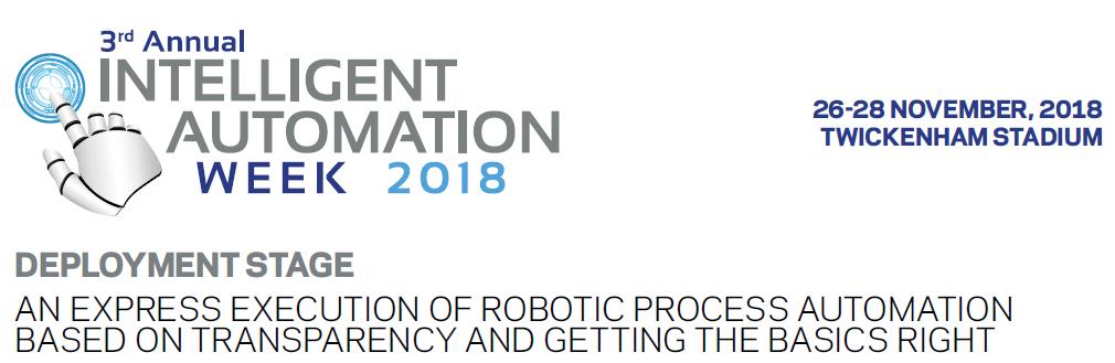 Intelligent Automation Week - Deployment Stage Agenda