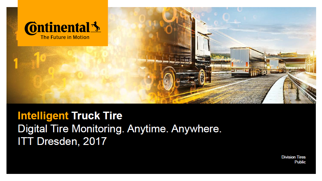 Continental Presentation on Tire Electronics for Commercial Vehicles and Fleet Management