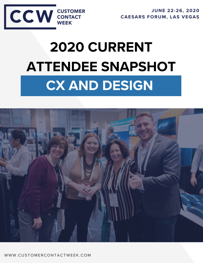 2020 CX And Design Attendee Snapshot | CCW Vegas
