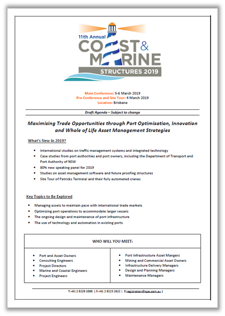 Coast and Marine Structures 2019 - View Draft Event Guide