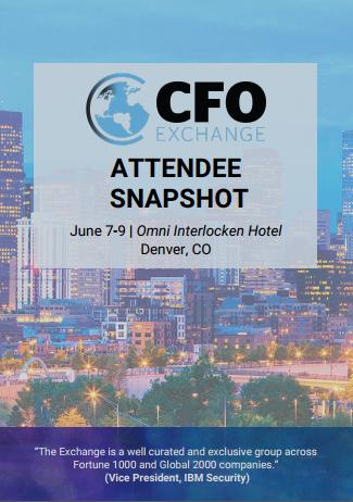 CFO Exchange June 2020 Attendee Snippet