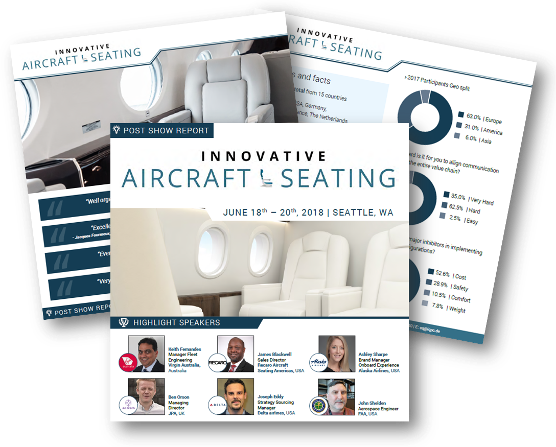 Innovative Aircraft Seating 2018 - Post Show Report