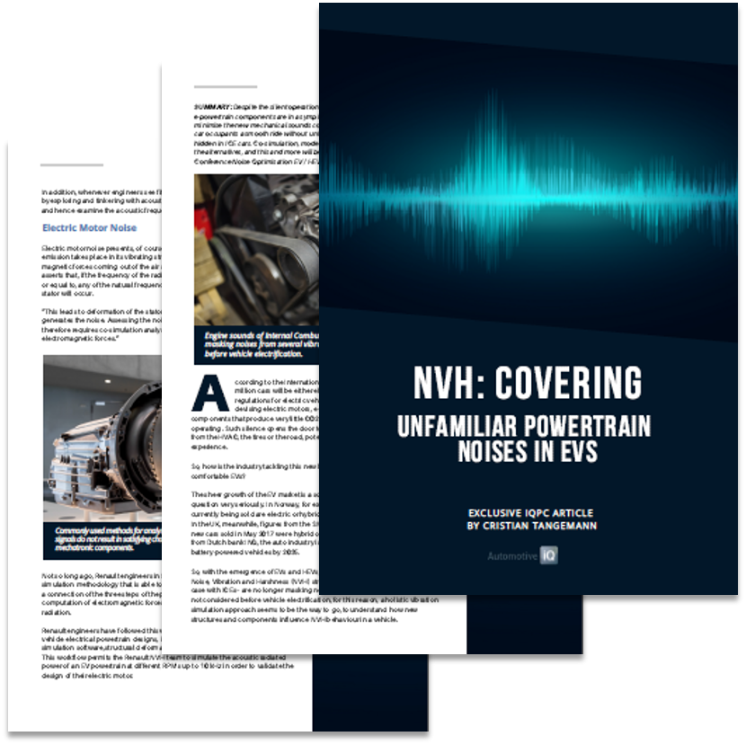 NVH: Covering Unfamiliar Powertrain Noises in EVS