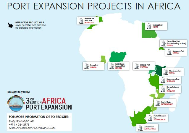 Port Projects in Africa - Interactive Map