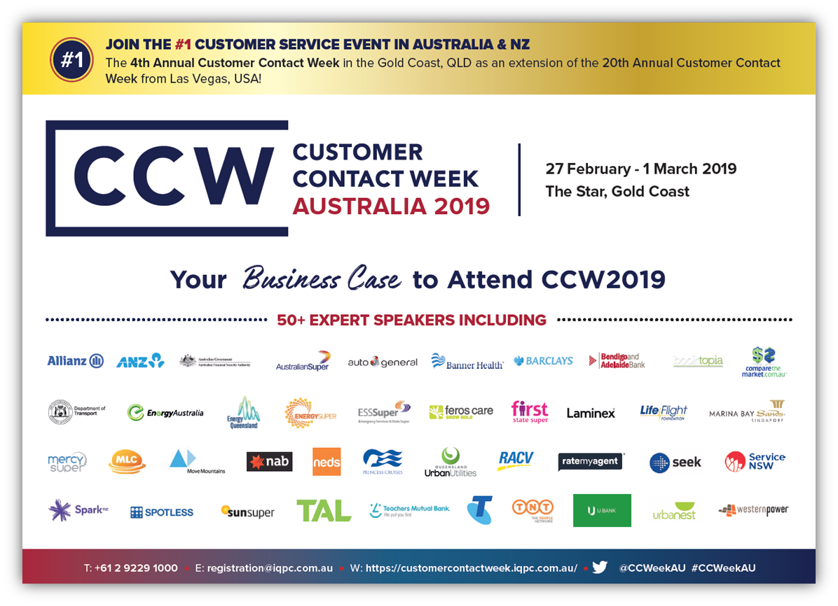 2019 CCW Business Case