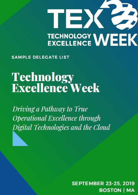 Technology Excellence Week 2019 Attendee List
