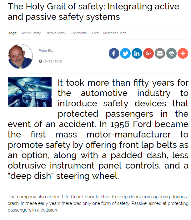 The Holy Grail of Safety: Integrating Active and Passive Safety Systems