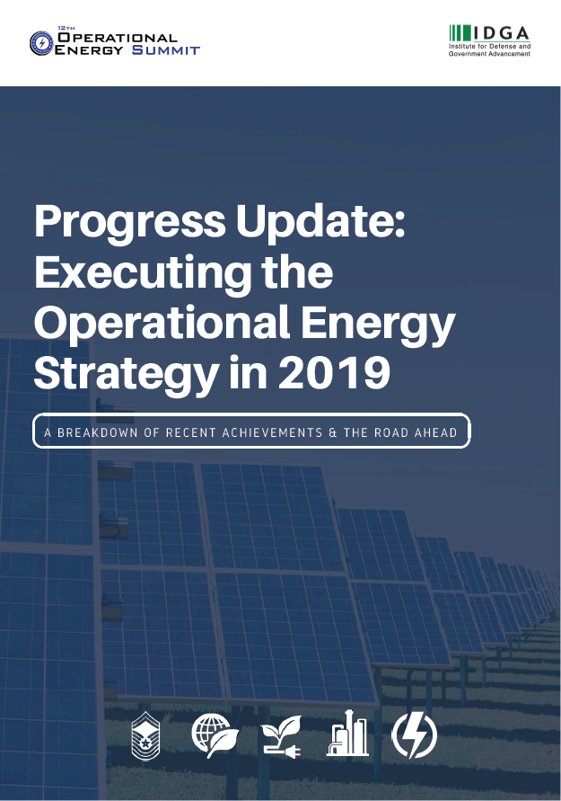 Progress Update: Executing The Operational Energy Strategy In 2019