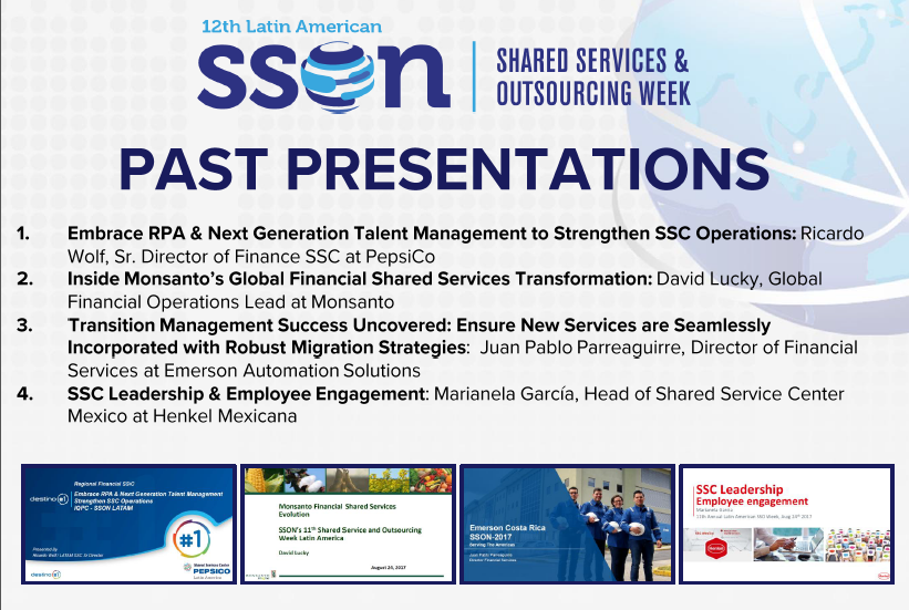 Latin America Shared Services & Outsourcing Week Past Presentations
