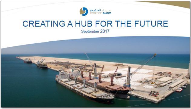 Creating a hub for the future - Erwin Mortelmans, Commercial Director for Port of Duqm Company