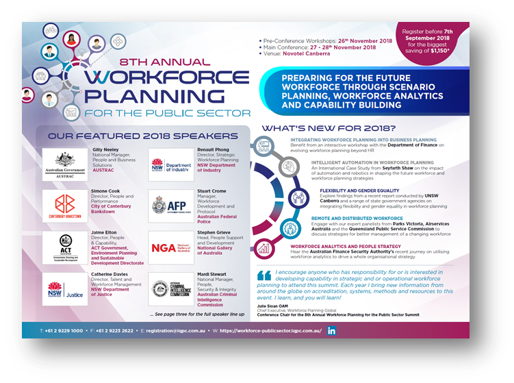 View the Workforce Planning for Public Sector 2018 Program