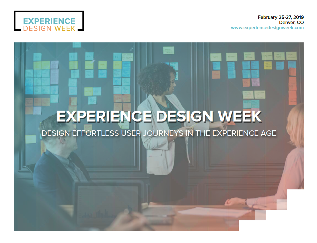 View Event Brochure: Experience Design Week
