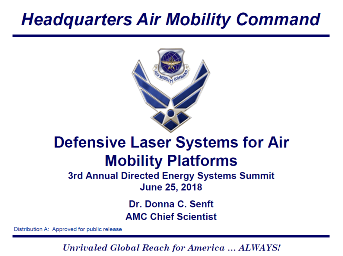 Defense Laser Weapons for Air Mobility Platforms