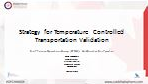 Strategy for Temperature Controlled Transportation Validation