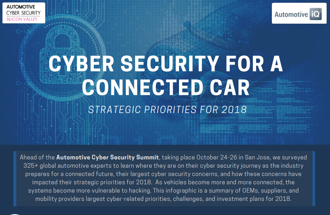 Automotive Cyber Security Silicon Valley - Strategic Priorities for 2018