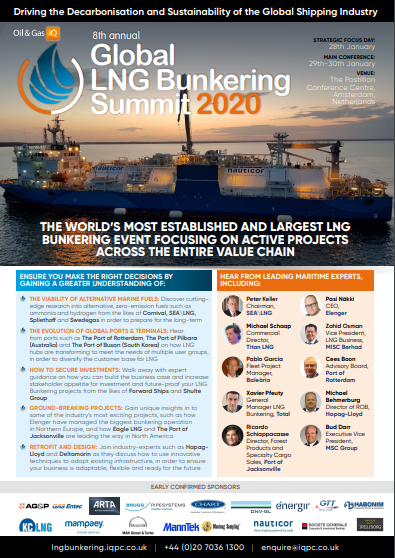 Global LNG Bunkering Summit 2020 Agenda