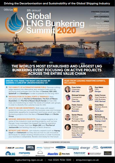 Global LNG Bunkering Summit 2020 Agenda